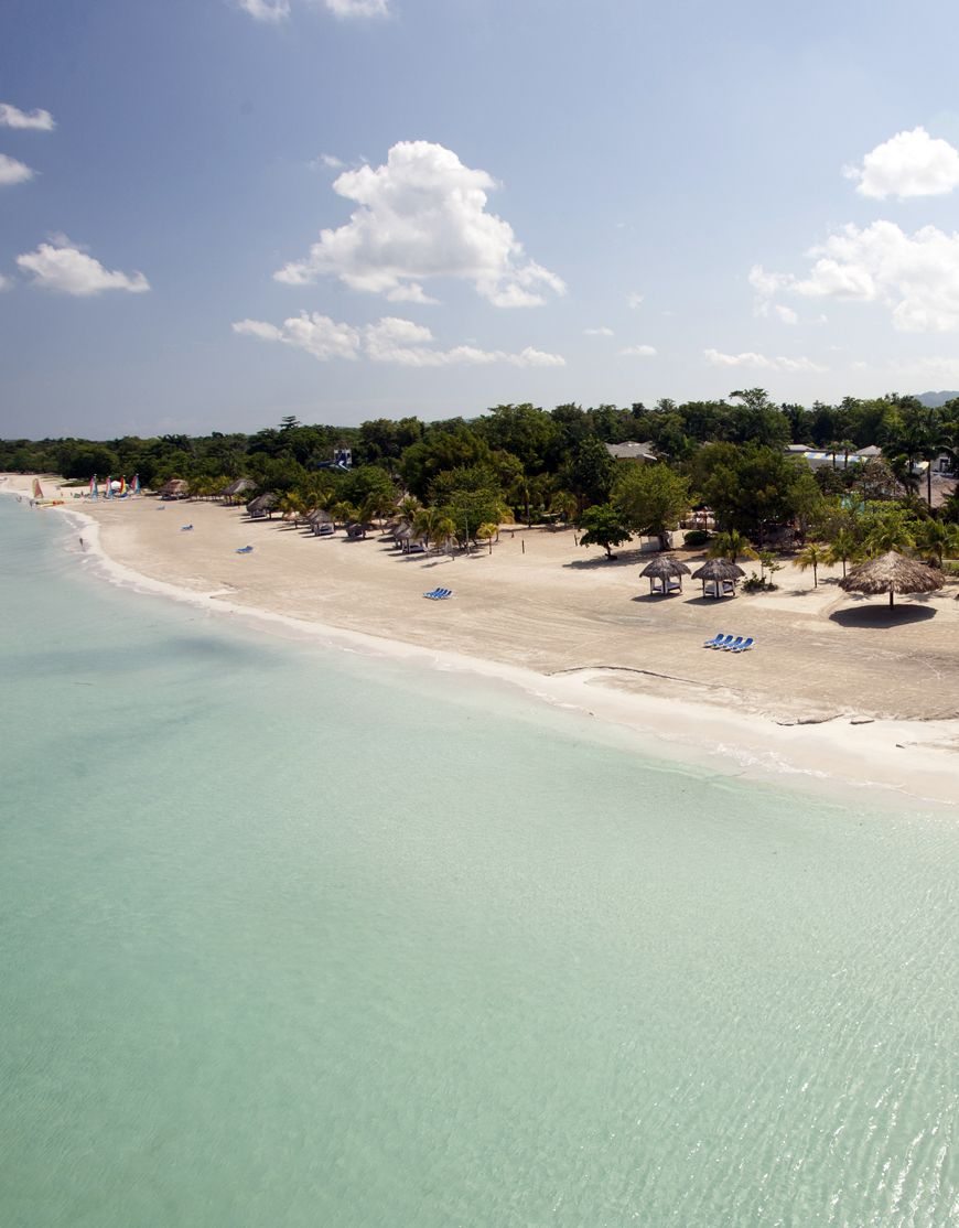 Aerial view from beaches negril.
