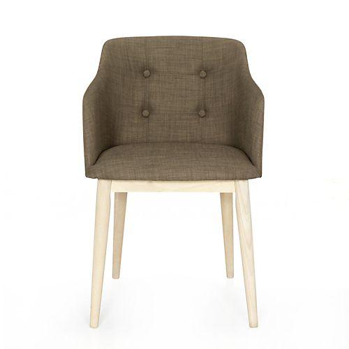 Chaise De Salon Capitonnee Marron Cork Chaises Tables Chaises Salon Salle A Manger Par Piece Decoration Chaise De Salon Table Et Chaises Chaises Salon