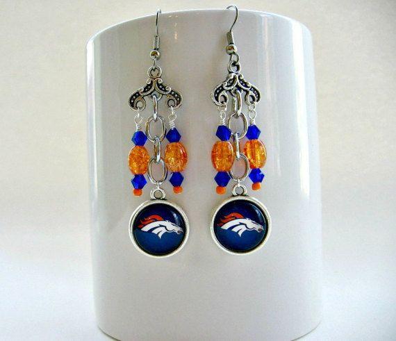 Denver Broncos Football Earrings Jewelry