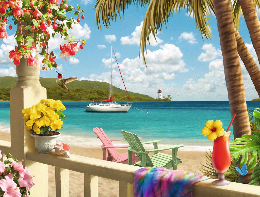 Tropical Paradise 2000pc Puzzle By Ravensburger Discon
