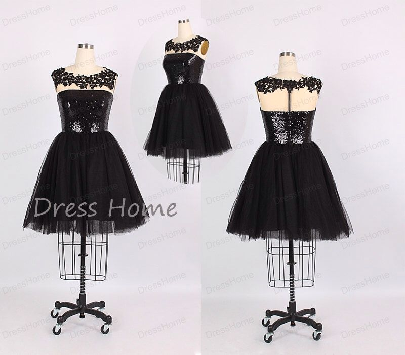 Sexy Shiny Black Sequins See Through Tulle Short A Line Homecoming Dress/Little Black Party Dress/Cheap Homecoming Dress/Juniors Dress DH192 by DressHome on Etsy https://www.etsy.com/listing/201455473/sexy-shiny-black-sequins-see-through