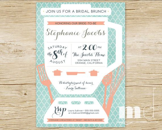 stock the kitchen bridal shower invitation recipe card thank you