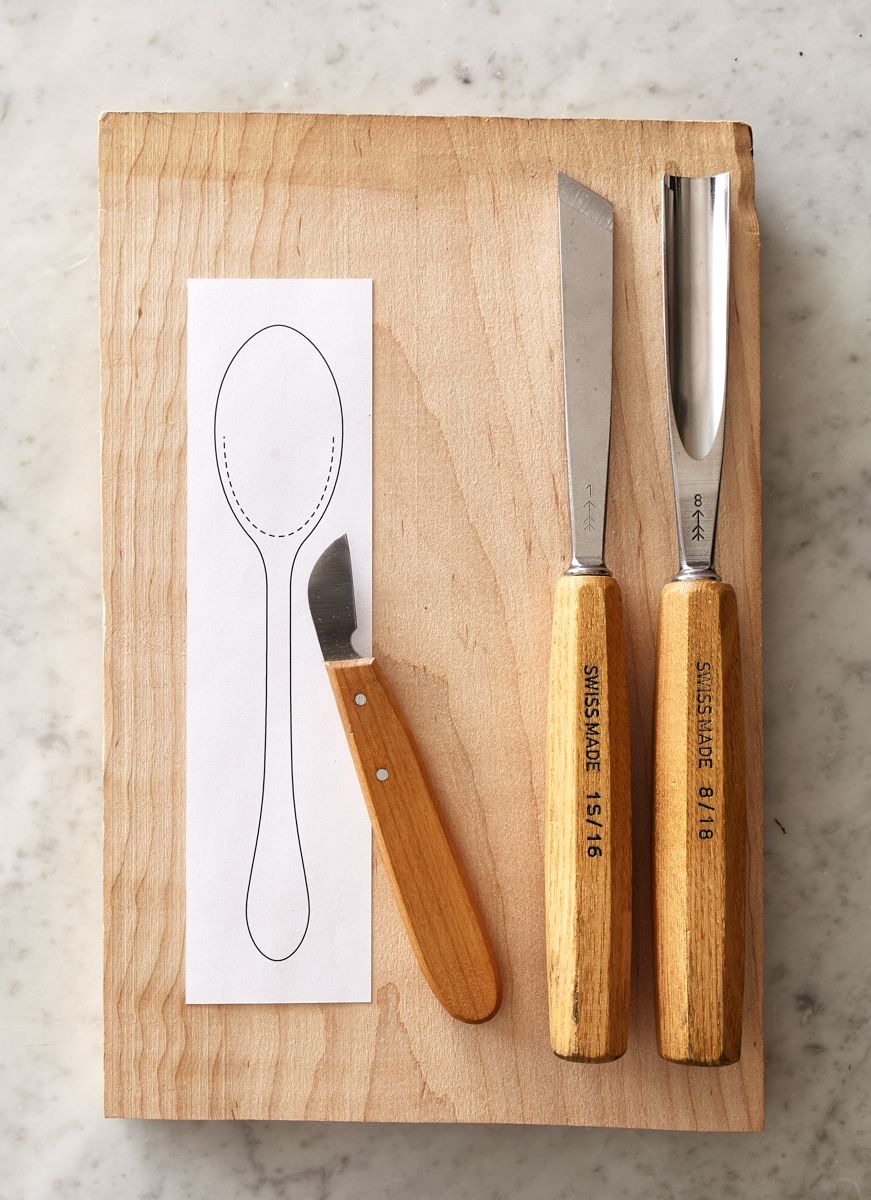 Phenomenal How To Carve A Simple Wooden Spoon From Any Hardwood Theyellowbook Wood Chair Design Ideas Theyellowbookinfo