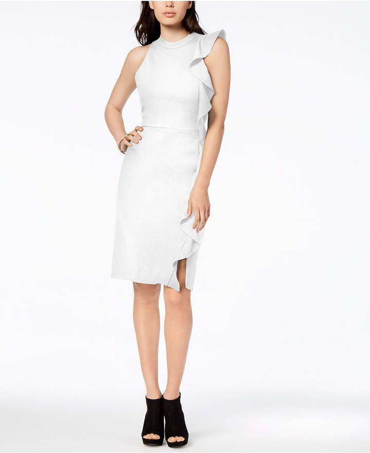 0f42f1be27e0 Bar Iii Ruffle Ponte-Knit Sheath Dress