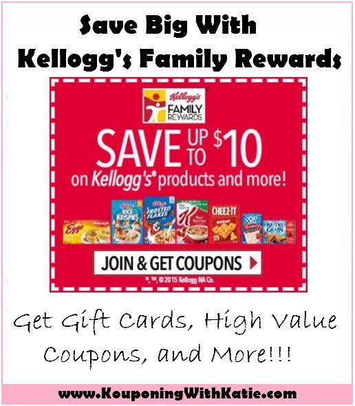 Bonus Codes And Kelloggs Savingstar Offer Kellogg S Family