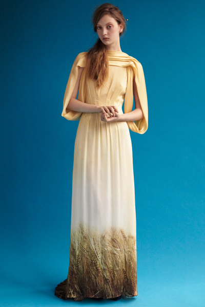 Rodarte gown with wheat-print | Style | Pinterest | Gowns, Printing ...