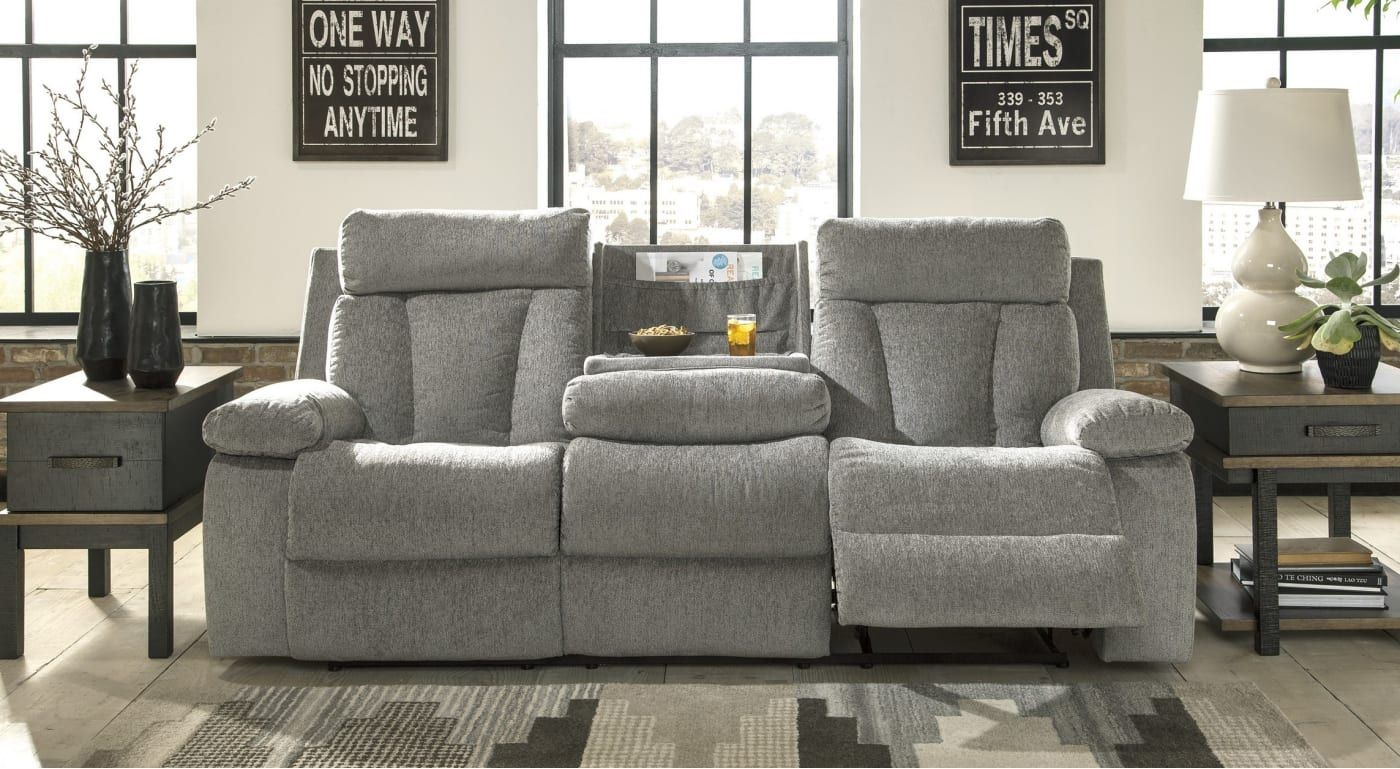 Signature Design 7620489 Signature Design Drop Down Table Reclining Sofa