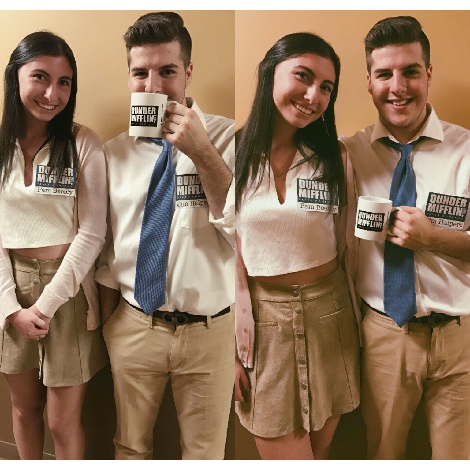jim and pam office costume | halloween costumes | pinterest