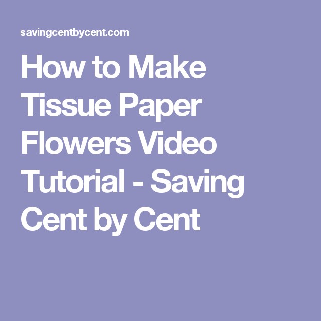 How to make tissue paper flowers video tutorial tissue paper how to make tissue paper flower lollipops valentine day diy projects mightylinksfo