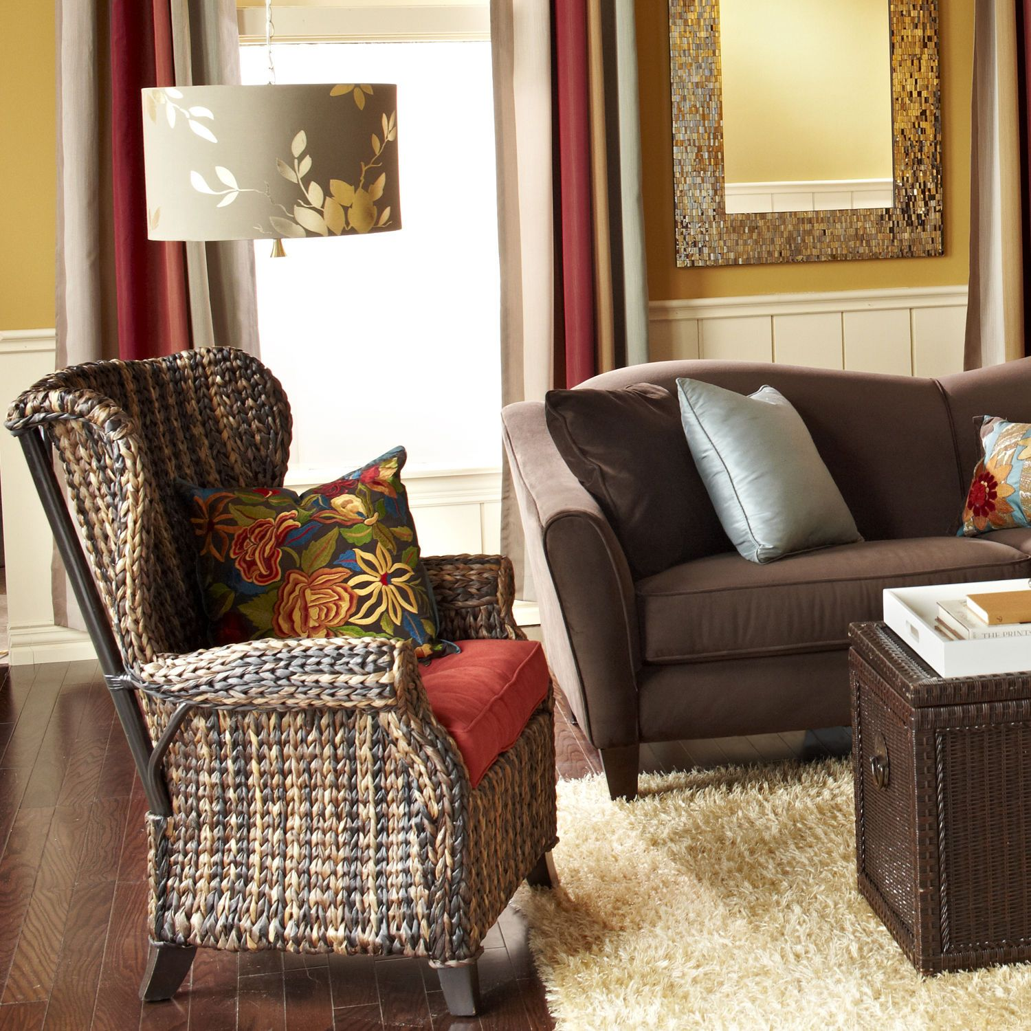 Graciosa Wing Chair Brown Pier 1 Imports Chair