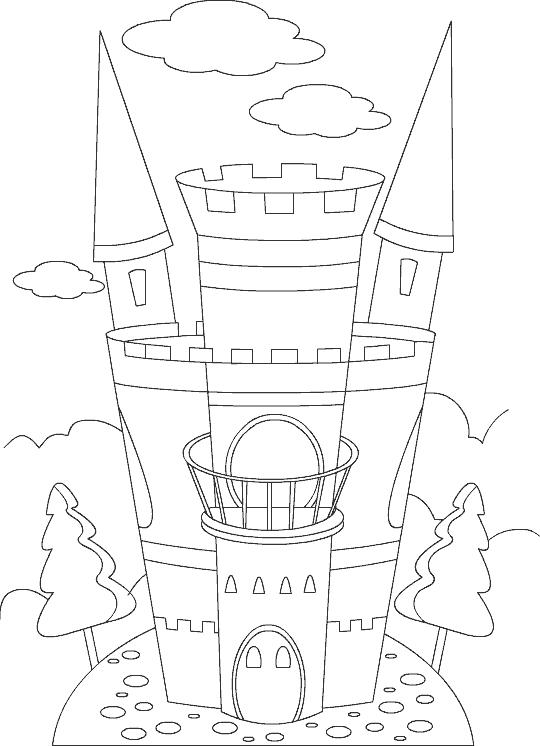 Color Castle Coloring Pages For Children Castle Coloring Page Coloring Pages Castle