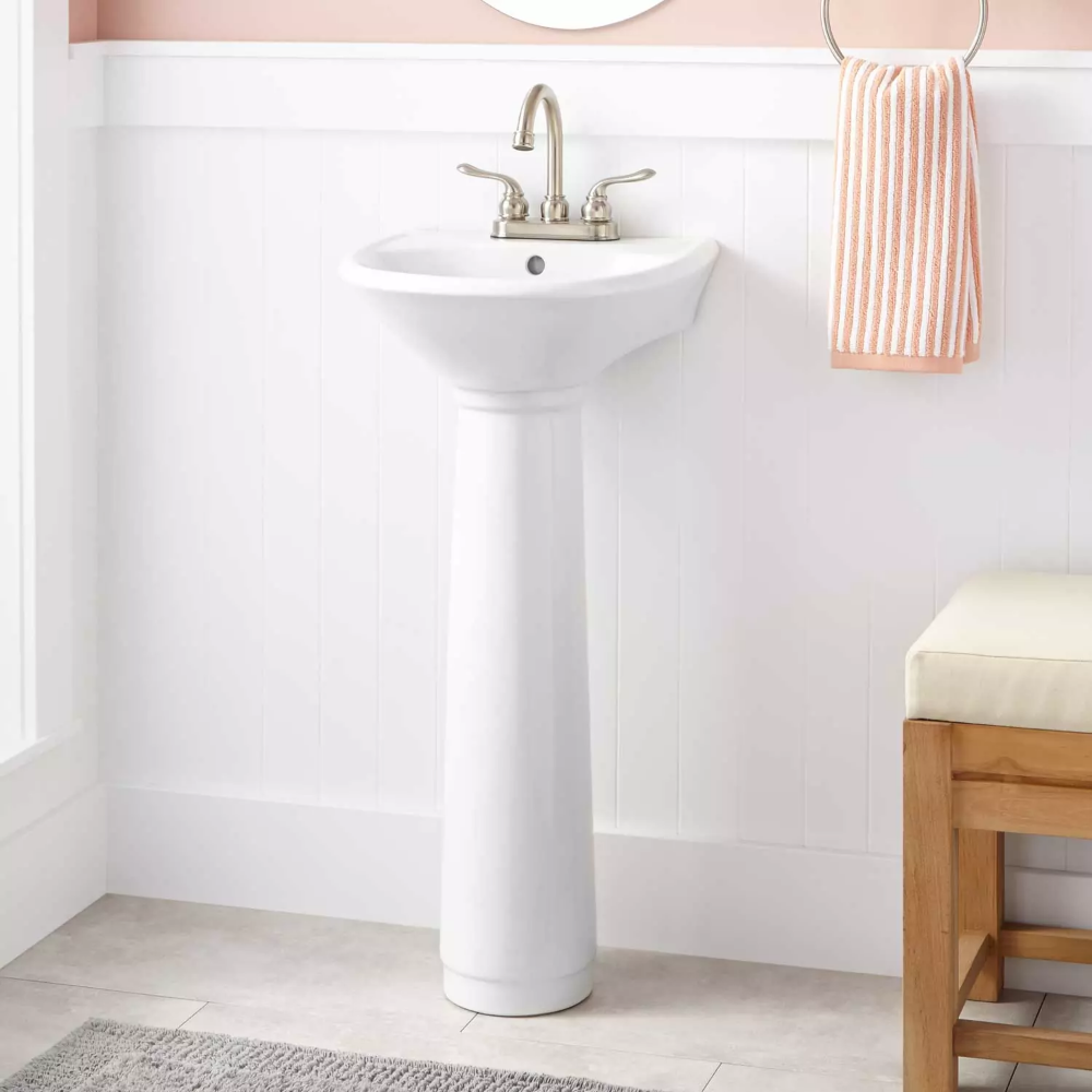 Farnham Porcelain Mini Pedestal Sink Signature Hardware In 2020