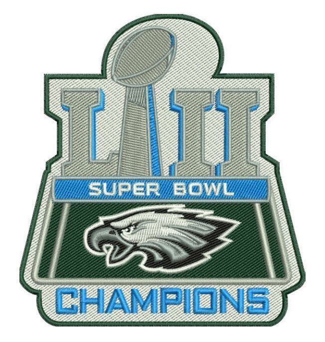 PHILADELPHIA EAGLES PATCH SUPER BOWL 52 LII NFL CHAMPIONS 4 FULLY  EMBROIDERED 90aa690e1