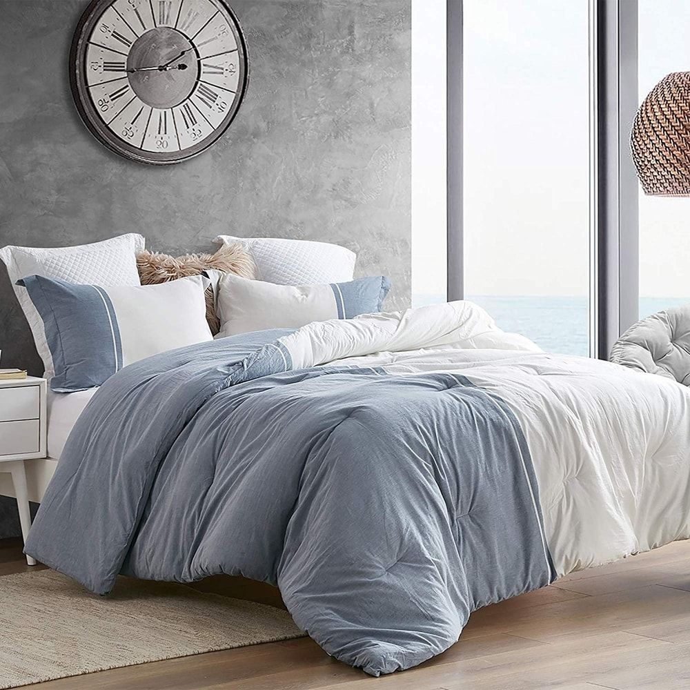 Photo of Half Moon – Blue and Ivory – Yarn Dyed Comforter (Twin XL – Half Moon – Blue and Ivory), Byourbed