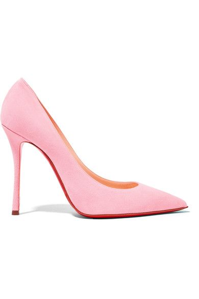 CHRISTIAN LOUBOUTIN Decoltish 100 suede pumps. #christianlouboutin #shoes #pumps