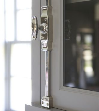 Polished Chrome Cremone Bolts French Door Kitchen Close