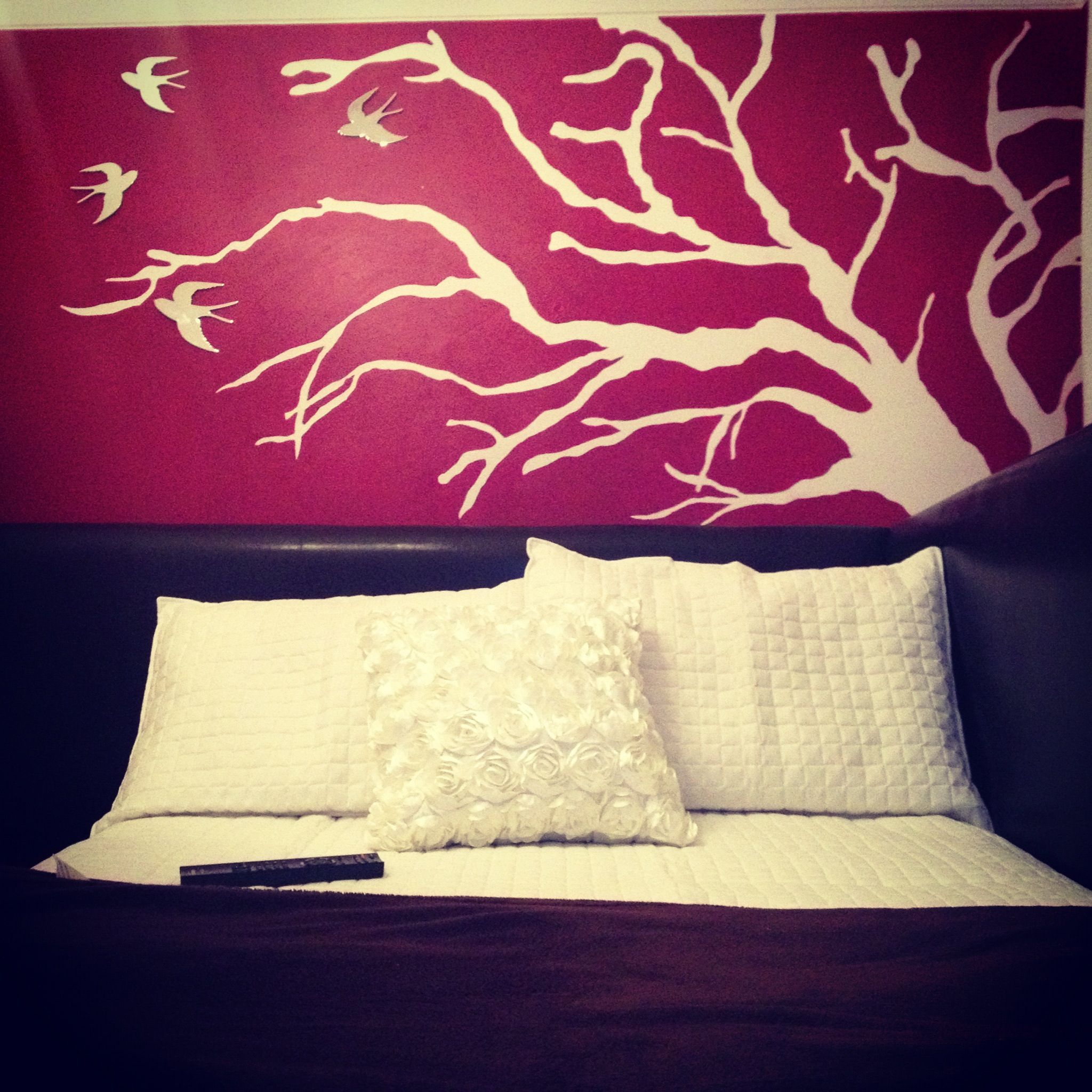 Bedroom tree painting indie birds red white | Fun | Pinterest ...