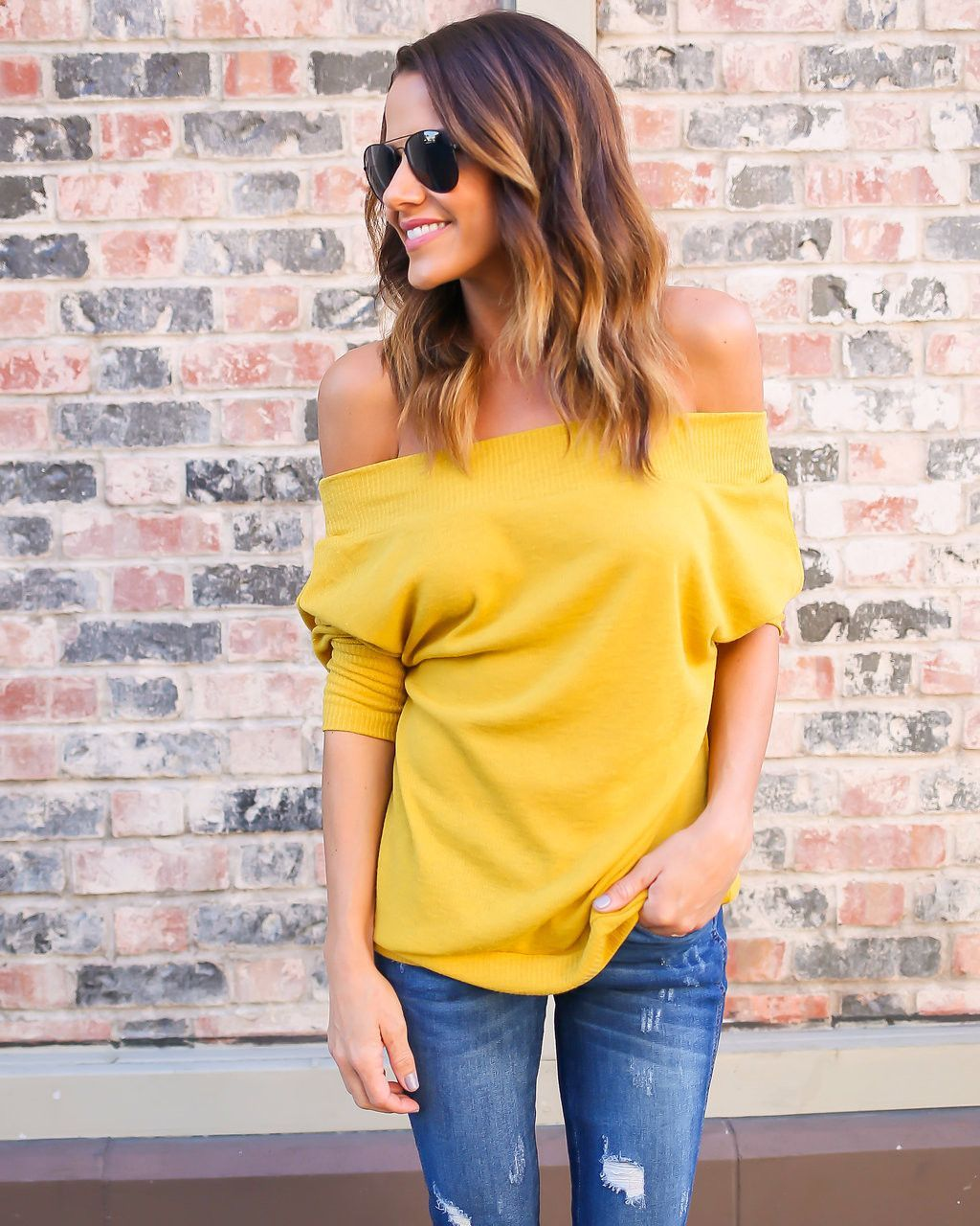 Every girl needs a staple off the shoulder top and our Toulouse ...