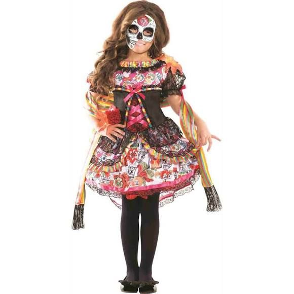 Dia de Los Muertos Choose Size Mexican Costume Scarecrow for Children Day of The Dead