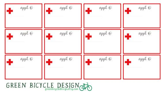 doctor s medical appointment reminder calendar planner stickers