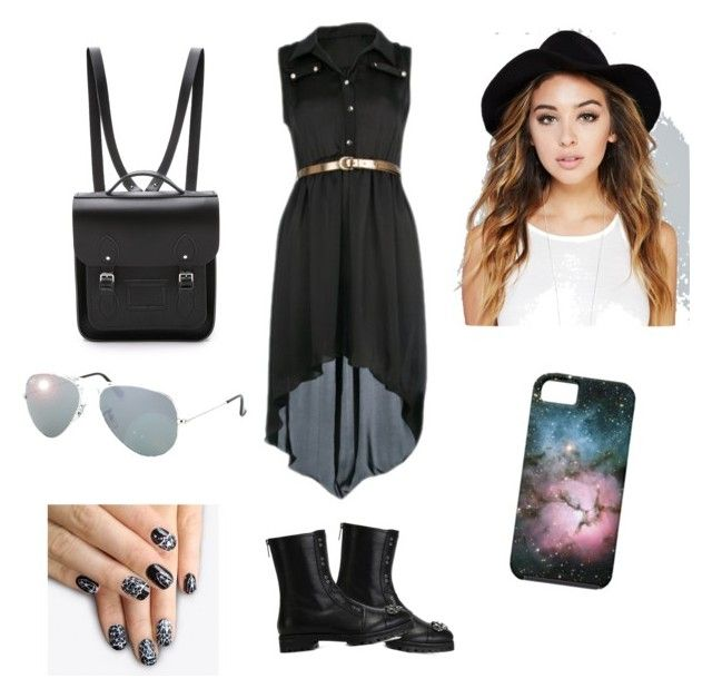 """""""I'm ready for the day"""" by cassidy-bookworm ❤ liked on Polyvore featuring moda, Jimmy Choo, The Cambridge Satchel Company, Wet Seal, alfa.K e Ray-Ban"""