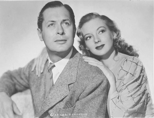 Robert Montgomery and Evelyn Keyes in Here Comes Mr. Jordan (1941).
