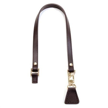 20 inch byhands Genuine Leather Brown Purse Handle with Gold Style Ring    Leather Tab (32-5235) 6308995ca2a8f