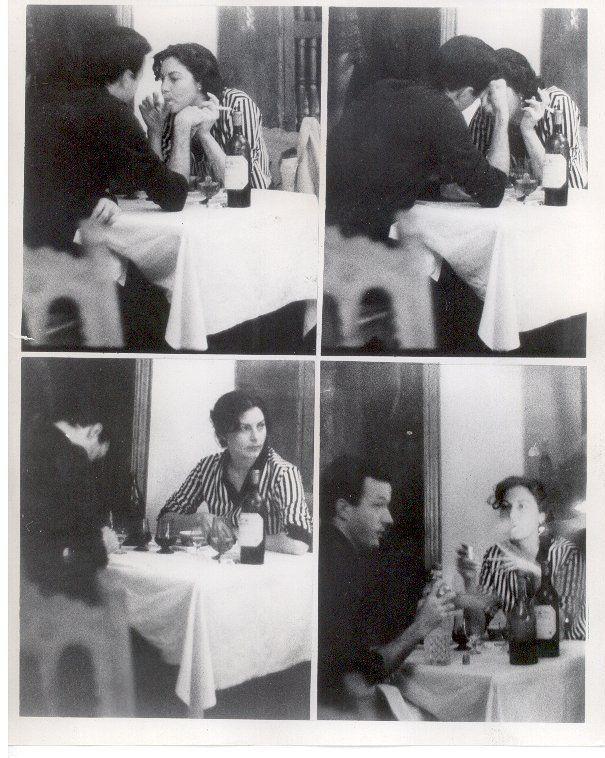 Ava Gardner,1950's, candid, dinner, drinks, smoking, date, lover