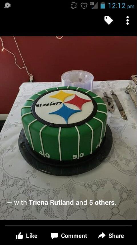 Grooms Cake For A Steelers Fan Sport Food Superbowl Party And