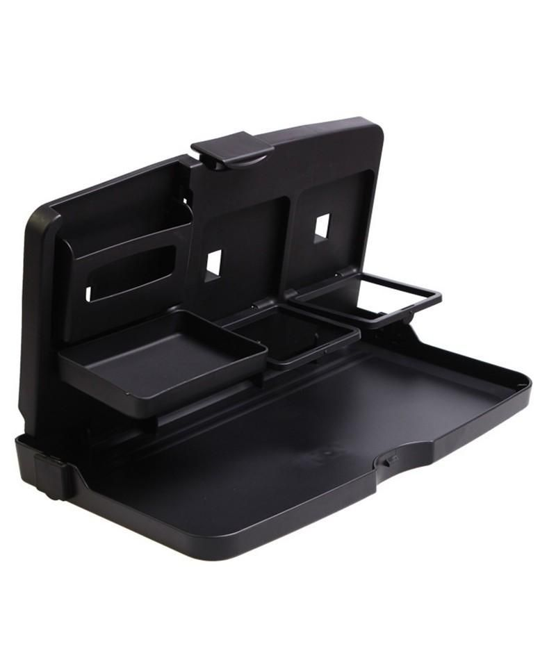 Auto car back seat folding table drink food cup tray
