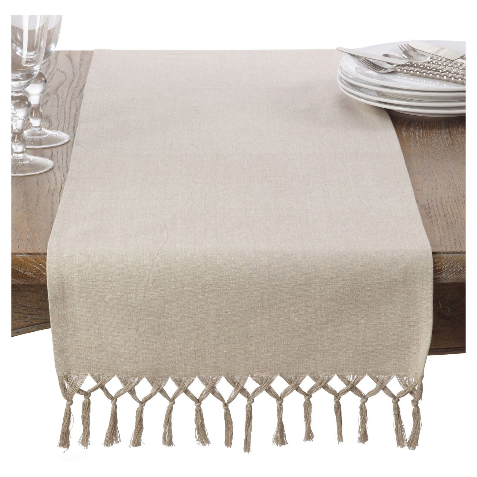 how to make a table runner with tassels