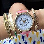 nueva loto relojes ginebra accesorios de moda reloj patrón de flores de la vendimia