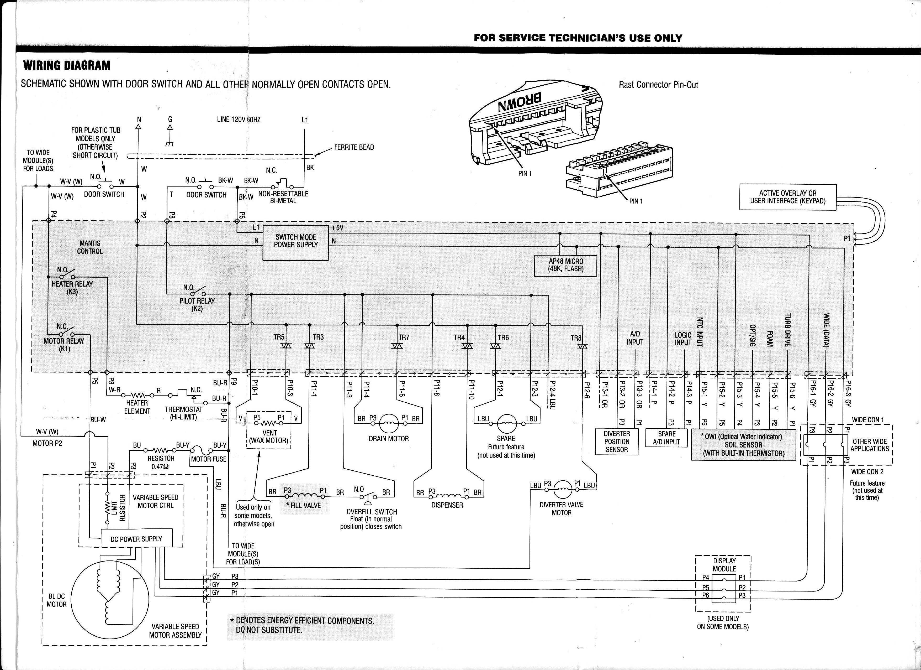 Whirlpool Kenmore Washer Motor Wiring Diagram