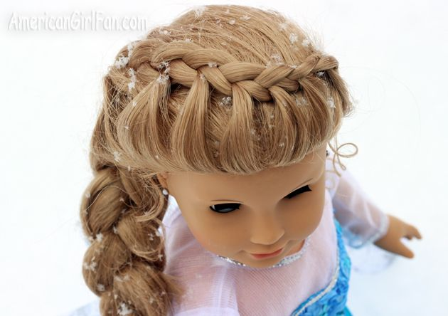 Doll Hairstyles Adorable Elsa Frozen American Girl Doll Hairstyle  American Girl  Pinterest