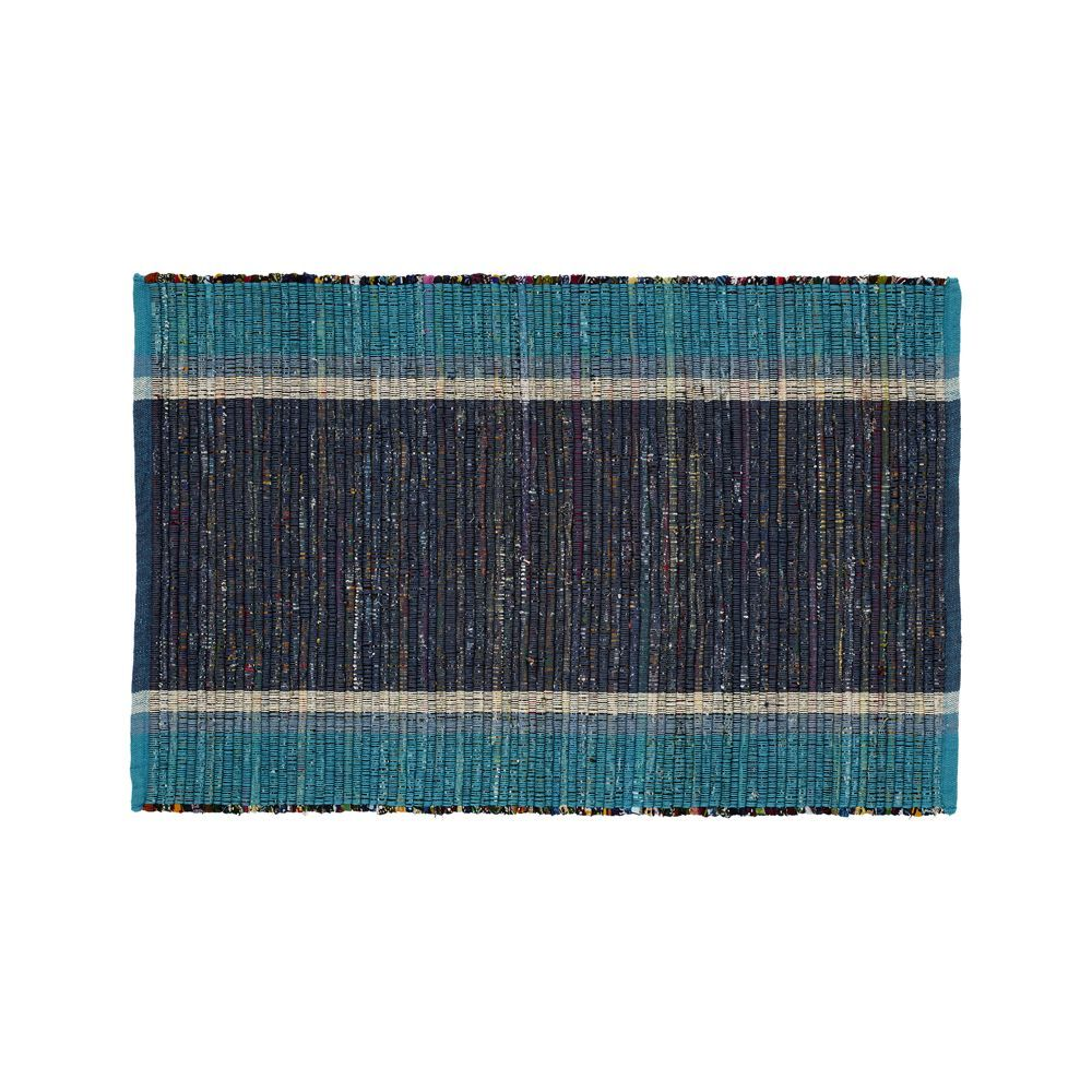 Quentin Blue Cotton 2\'x3\' Rug - Crate and Barrel | Products ...