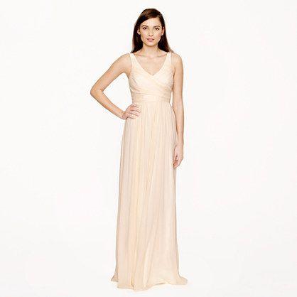 d39d31ea3cf7 J.Crew - Heidi long dress in silk chiffon  365 champagne or misty rose  sizes 14-20