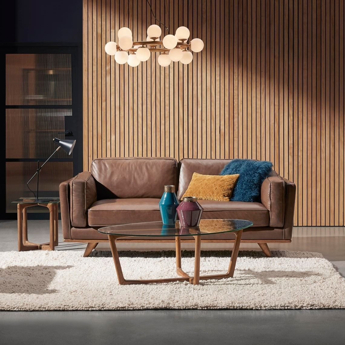 Dahlia 2 5 Seat Leather Sofa Size W 197cm X D 93cm X H 80cm In Natural Leather Foam Fibre Freedom In 2020 Leather Sofa Home Living Room Sofa