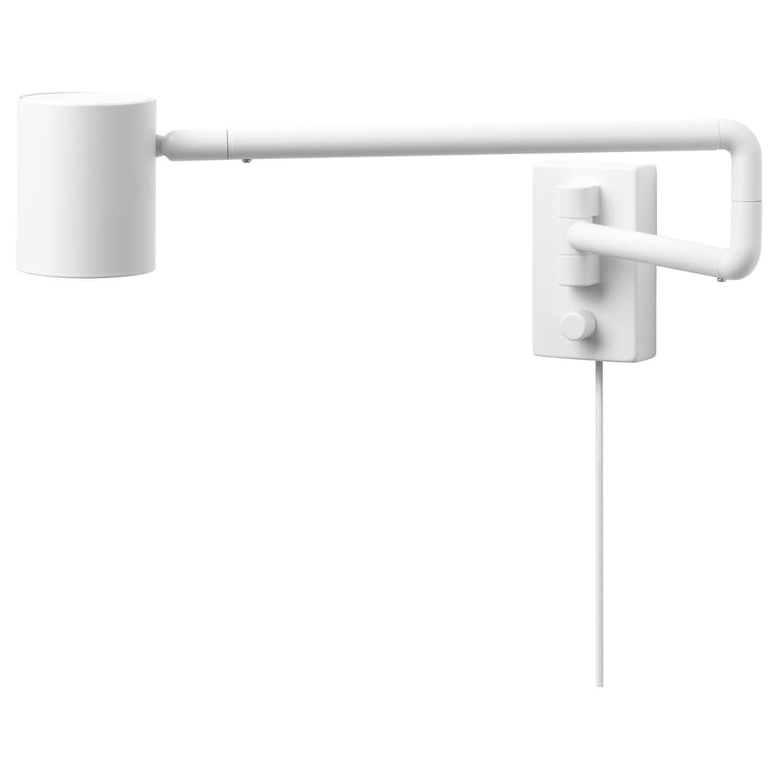 NYMÅNE Wall lamp with swing arm white IKEA i 2020