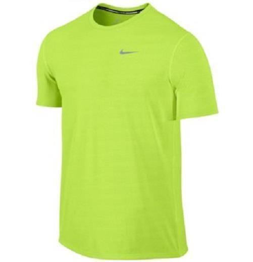 Nike Mens DriFIT Miler Running UV Short Sleeve Shirt Yellow Large 821930-702 NEW #Nike #ShirtsTops