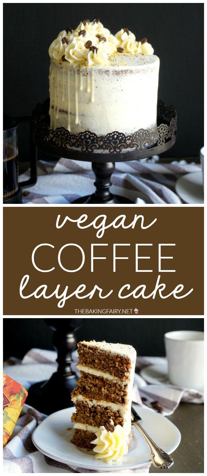 Vegan coffee layer cake Recipe Dessert recipes