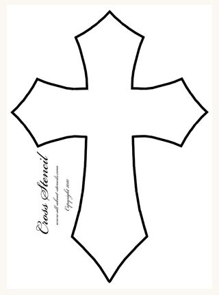 Cross pattern so that you can use your printed cross for Templates for wood cutouts