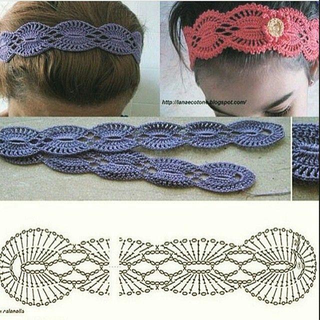 crochet #Headband | DIADEMAS Y GORROS | Pinterest | Patrón de ...