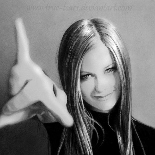 Avril Oh Yeah!! - A Pencil Drawing by True-Tears