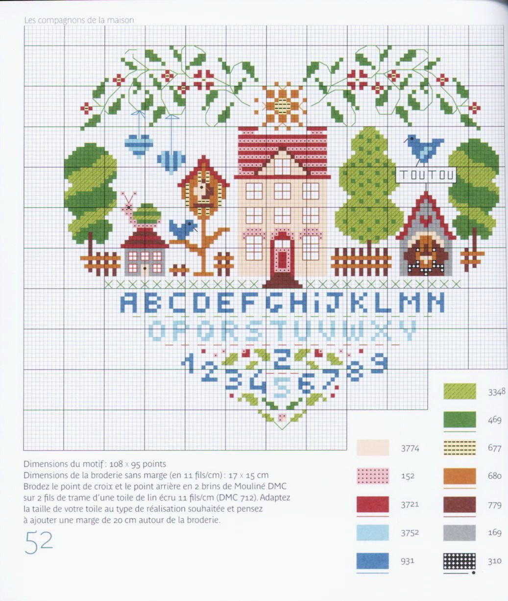 heart house sampler | cross stitch | Pinterest | Punto de cruz ...