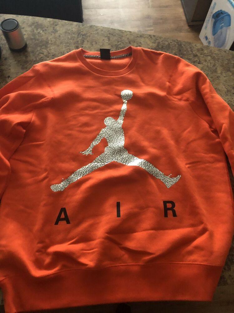 0fd61d3777b9 nike air jordan sweatshirt Orange  fashion  clothing  shoes  accessories   mensclothing
