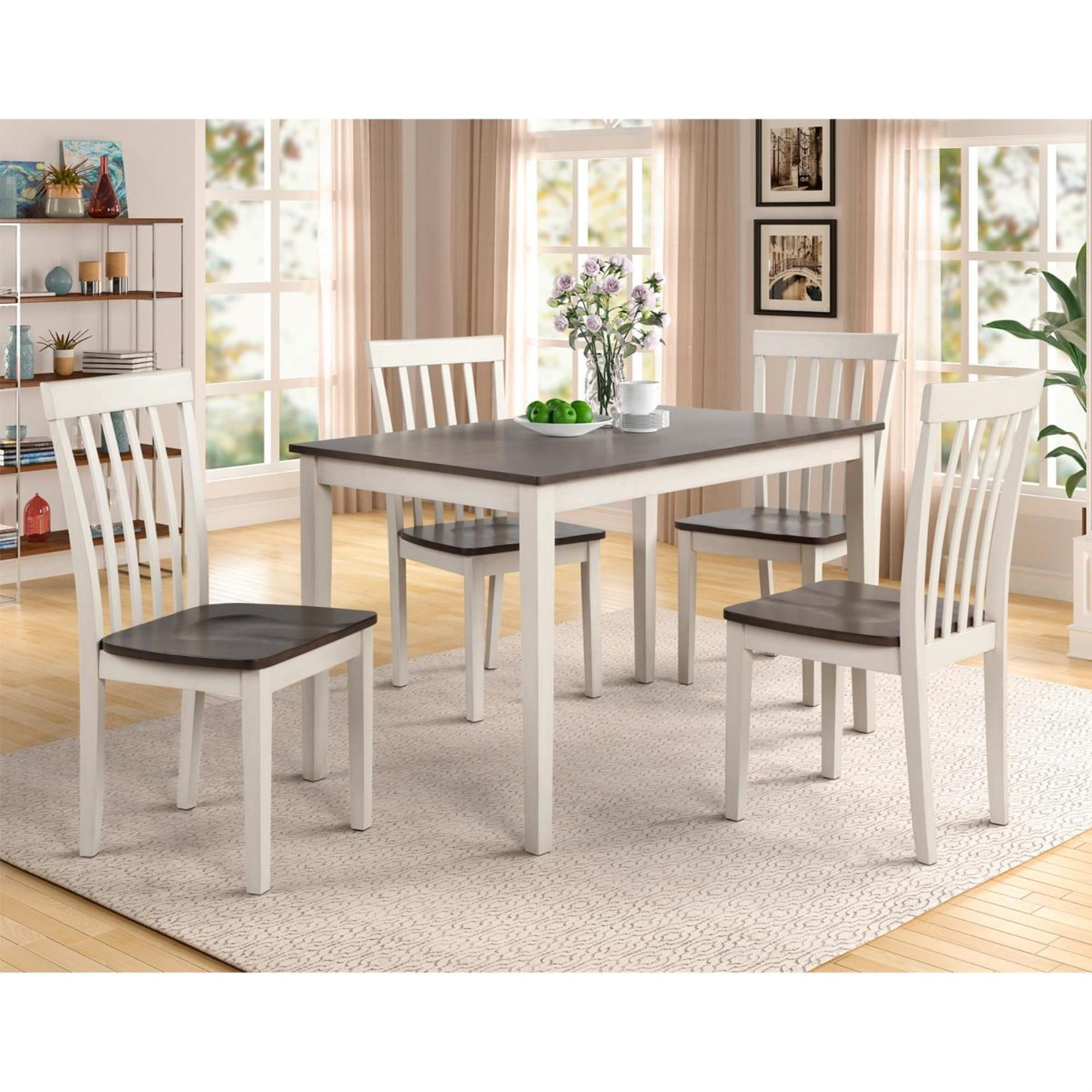 Claremont Brody 5 Piece Dining Set In White And Grey Nebraska Furniture Mart In 2020 Dinette Sets White Dining Room Dining Room Sets