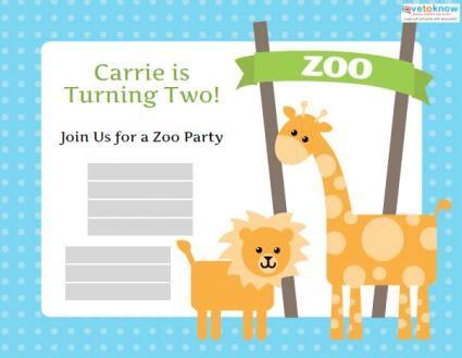 Free zoo birthday invitation templates holidays celebrations and free zoo birthday invitation templates stopboris Gallery