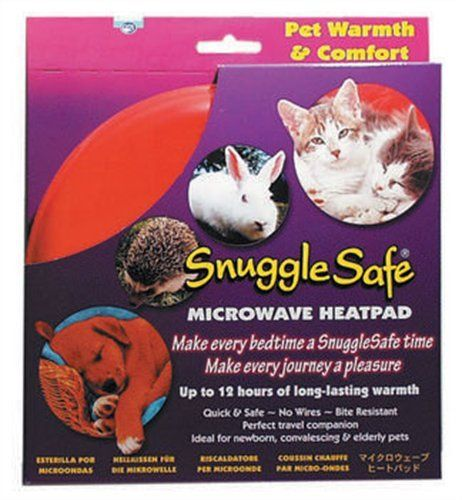 Snuggle Safe Pet Bed Microwave Heating Pad Non Electrical Plate Size