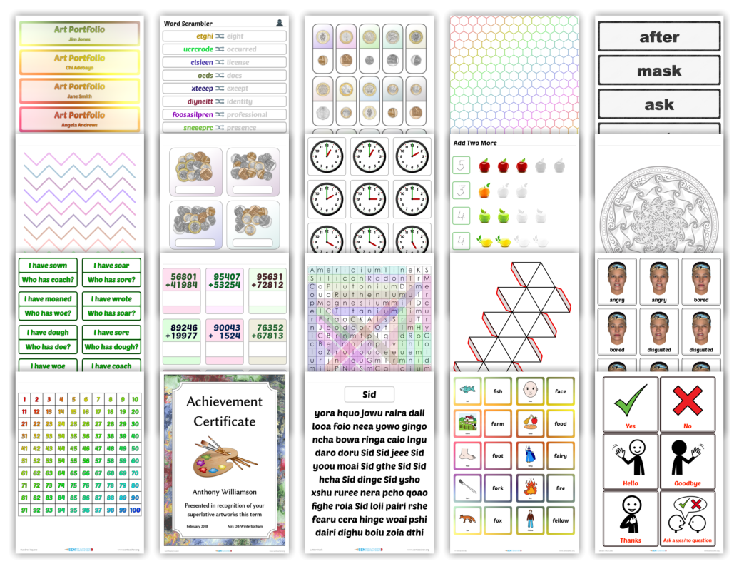 Free Mathematics Printables Custom Worksheets Teaching Resources Printable Games And