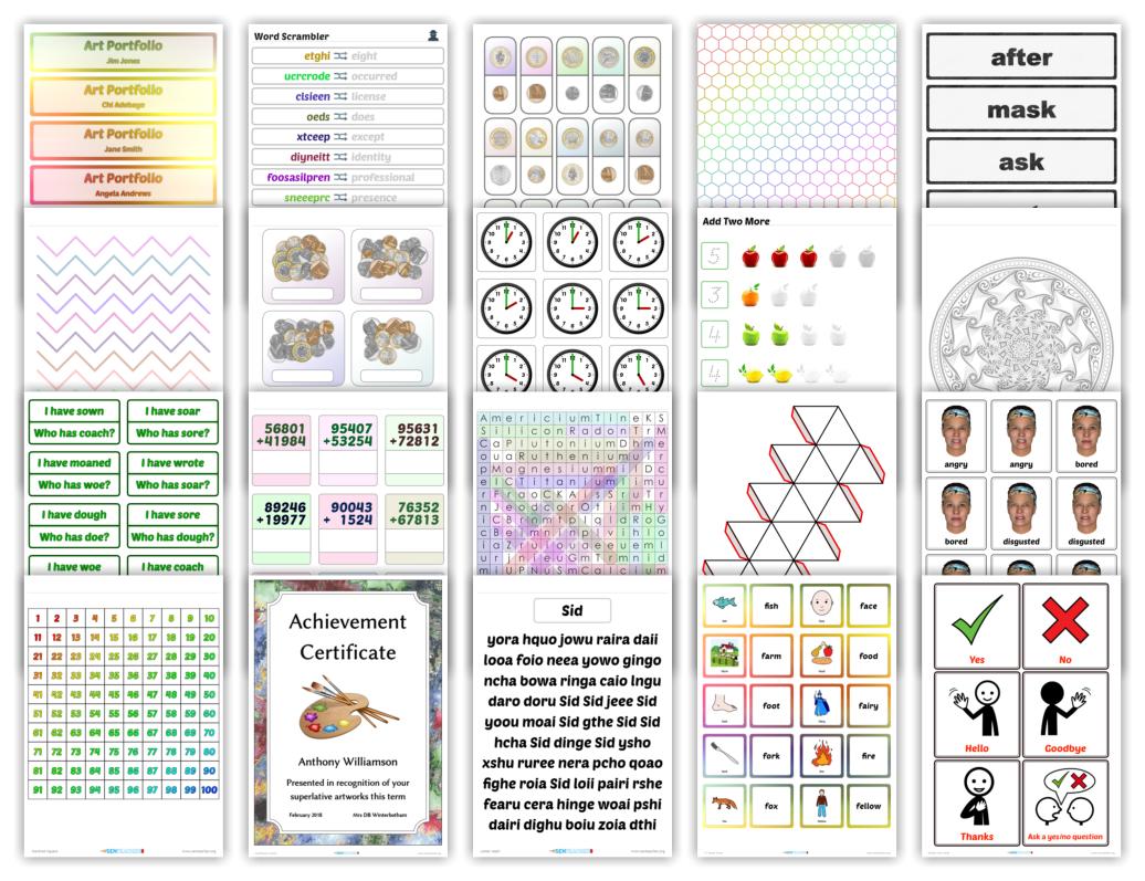 Free Mathematics Printables Custom Worksheets Teaching